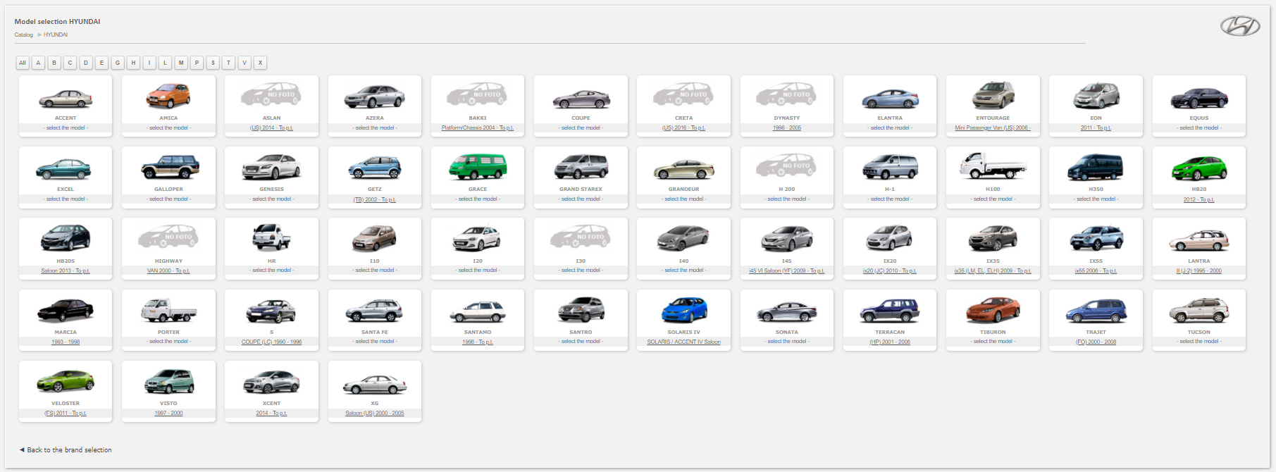 Hyundai Auto Spare Parts